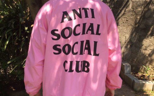 Jaqueta (corta vento) Anti Social Social Club - Rosa