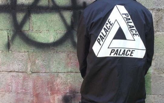 Jaqueta Palace Skateboard de botão (corta vento) - Preta 1a. linha
