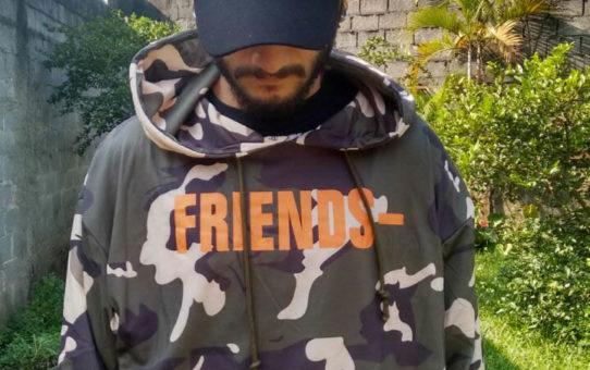 Moletom Vlone Friends Camuflada (Asap) - Verde com capuz 1a. linha